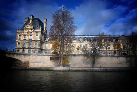 Louvre,Seine - Art Galleris Triangle Sculpture in Paris, France