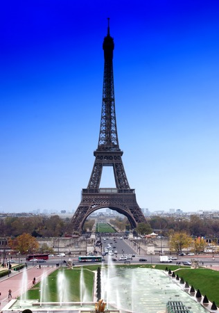 lomography: Iron Construction of one of the famoust european and french landmark Eiffel Tower in Paris