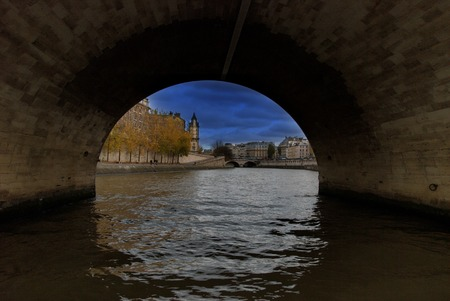 lomography: River Seine in Paris and view on the city