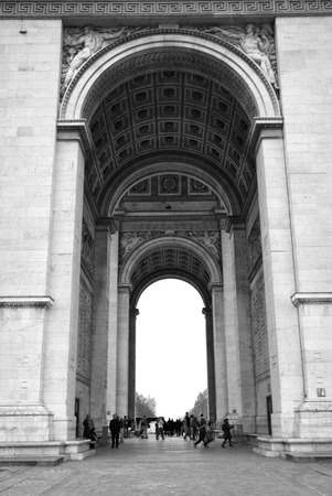 lomography: Monumental Landmark Arch De Triumph in Paris - France Editorial