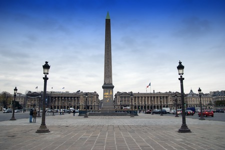 Concorde Square in Paris with Fountain and Obelisk