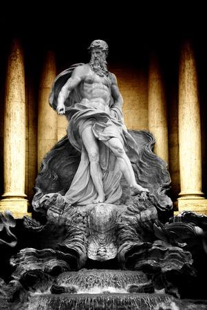bernini: Trevi Fountain  Fontana di Trevi  in Rome italy