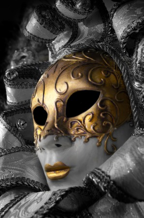 anonymus: Venetian hand maded and painted decorated mask Stock Photo