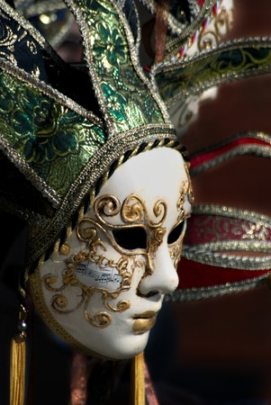 Venetian hand maded and painted decorated mask Stock Photo