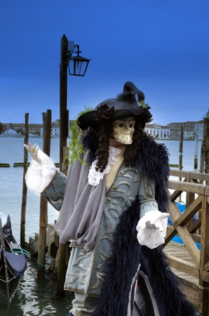 anonymus: Swan Lake mask,performance in Venice carnival