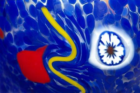 murano: Multicolored Murano Glass Bowl hand painted , Venice Stock Photo