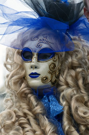 Venetian masks and costumes performance on St  Mark s square