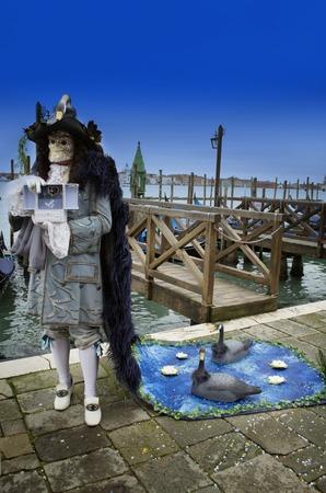 Swan Lake mask,performance in Venice carnival