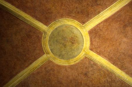 painting wall: Religiosa pintura antigua muralla en la InVenice techo