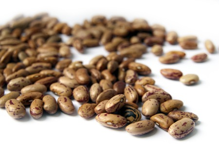 Brown Beans Isolated On The White Background photo