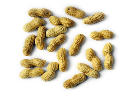 arachis: Peanuts Isolated On The White Background Stock Photo