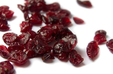 epicure: Dried Cranberries Isolated On White Background Stock Photo