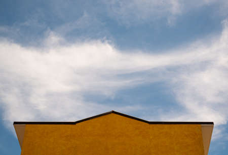 The building orange that dominates the sky.