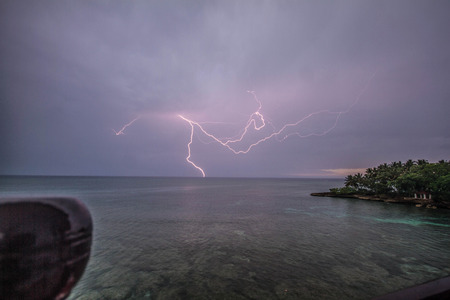 lightning in the caribe sea