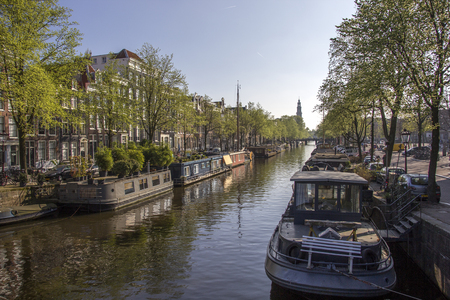 houseboat amsterdam Stockfoto