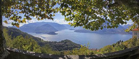 panoramic lake como Stock Photo