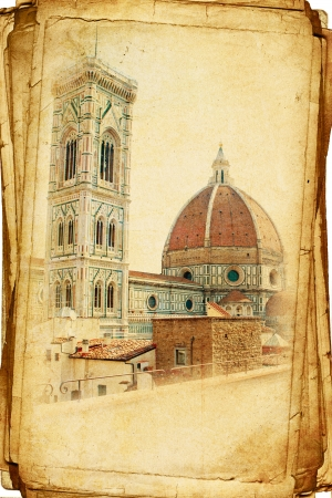 firenze: Florence in vintage style postcards