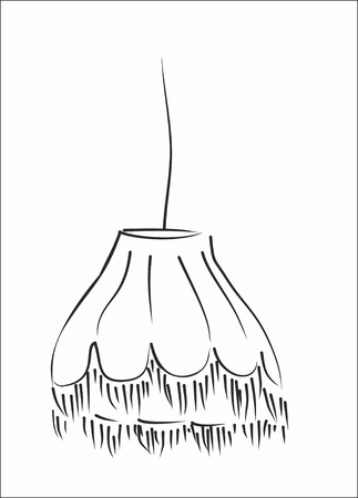 shadowgraph: lampshade silhouette