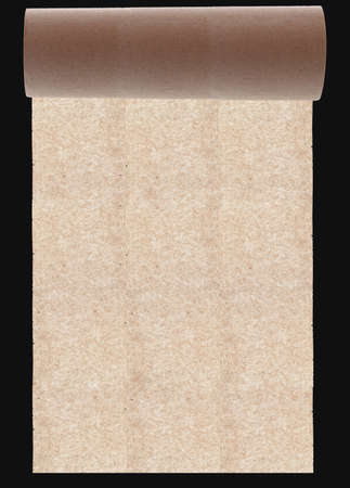 layup: roll of the paper of the original texture on dark background