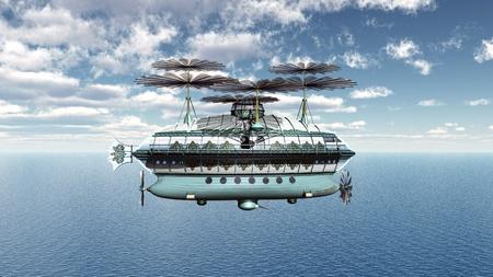 luftschiff: Fantasie-Luftschiff