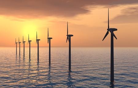 Parc éolien offshore Banque d'images - 11308162