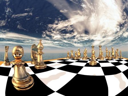 tablero de ajedrez: Composici�n de Ajedrez Foto de archivo