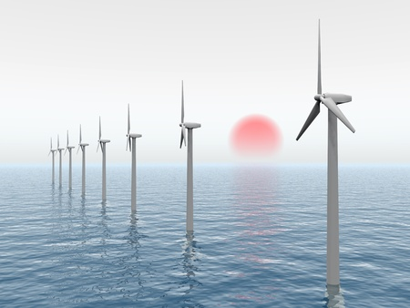Offshore Wind Farm Stock Photo - 11551467