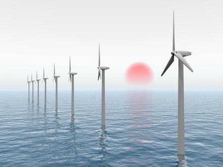 Offshore Wind Farm Stock Photo - 11551467