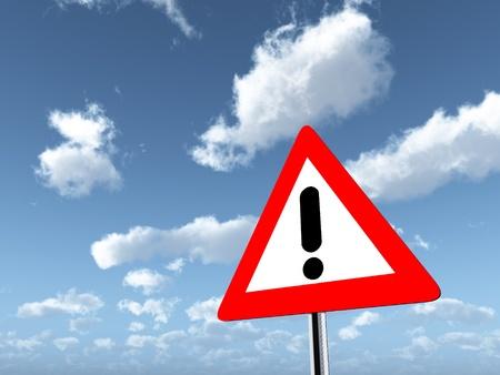 danger ahead: Warning Sign Danger Ahead Stock Photo