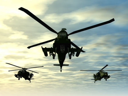 air speed: Apache Helicopter