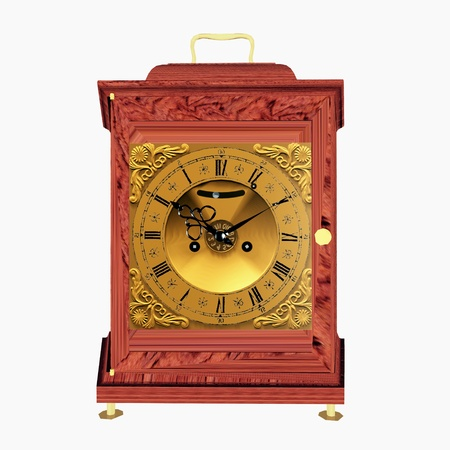 grandfather clock: Old Clock Stock Photo