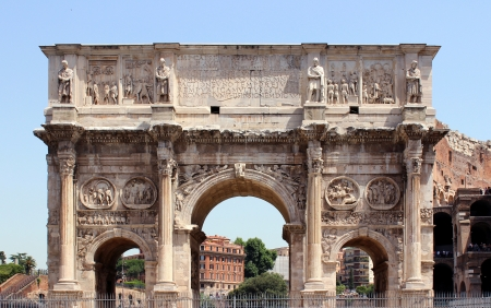 constantine: The Arch of Constantine in Rome, Italy