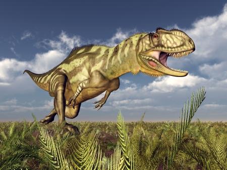 hugely: Dinosaur Yangchuanosaurus Stock Photo