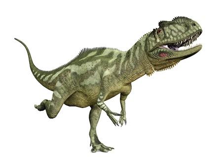 enormously: Dinosaur Yangchuanosaurus Stock Photo