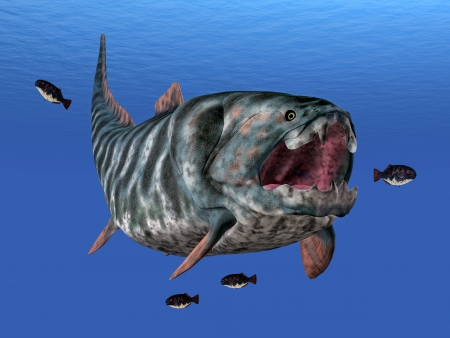 Dunkleosteus While Hunting Stock Photo - 16500827