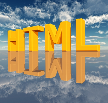 hypertext: HTML � Hypertext Markup Language Stock Photo