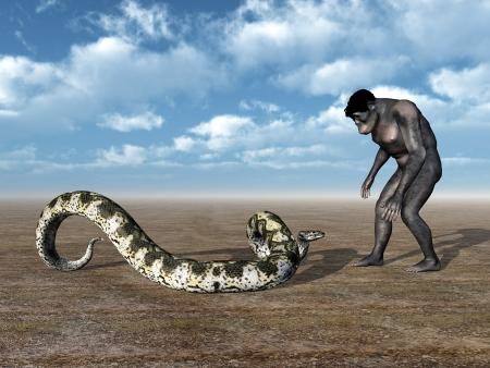 Homo Habilis - The Evolution of Man Stock Photo - 16500882