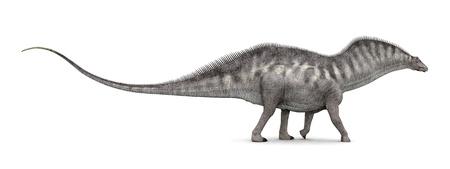 hugely: Dinosaur Amargasaurus Stock Photo
