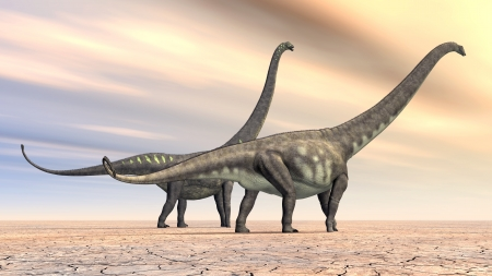 hugely: Dinosaur Mamenchisaurus Stock Photo