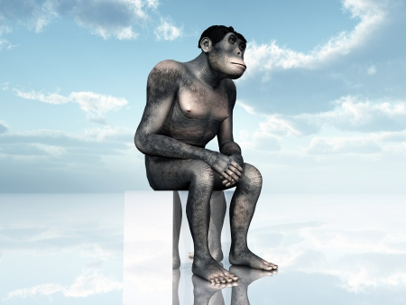 Homo Habilis - Human Evolution Stock Photo - 16696806