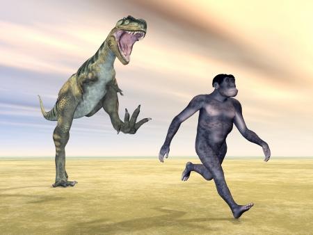 Homo Habilis - Human Evolution Stock Photo - 16696823
