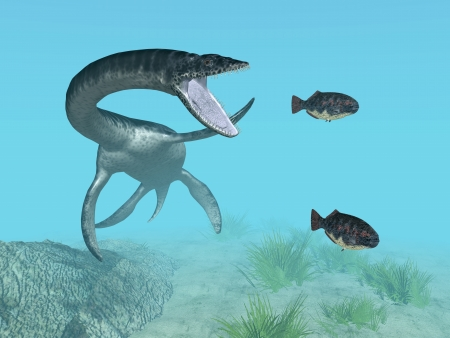 Plesiosaurus While Hunting
