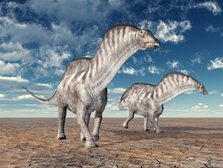 hugely: Dinosaur Amargasaurus Stock Photo