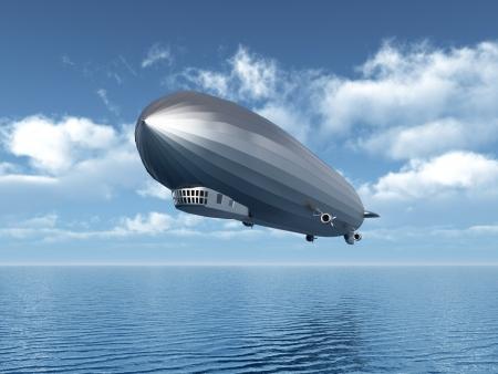 ballon dirigeable: Ballon dirigeable Banque d'images
