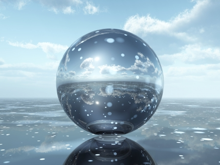 crystal ball: Glass Sphere