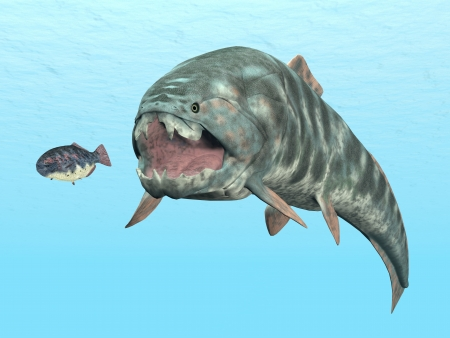 paleontology: Dunkleosteus While Hunting