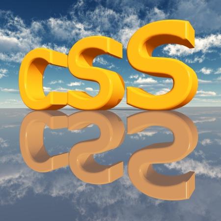 cascading: CSS � Cascading Style Sheets Stock Photo