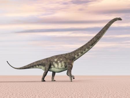 hugely: Dinosaur Mamenchisaurus Stock Photo