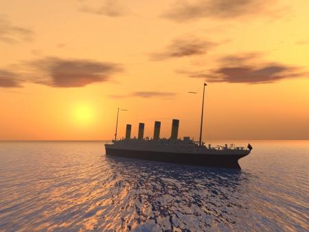 seafaring: Transatl�ntico Foto de archivo