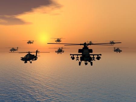 アパッチ ヘリコプター